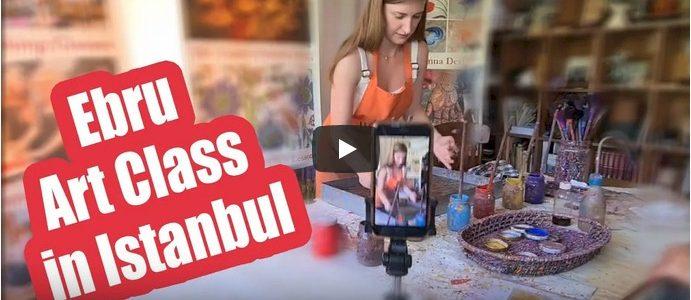 Традиционное турецкое искусство Эбру. Уроки и мастер-классы в Стамбуле.